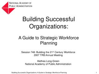 Building Successful Organizations: