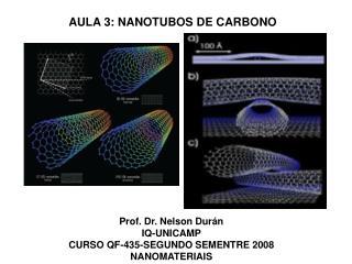 Prof. Dr. Nelson Dur n IQ-UNICAMP CURSO QF-435-SEGUNDO SEMENTRE 2008 NANOMATERIAIS