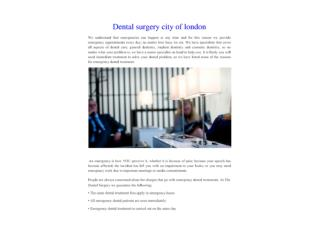 Dental surgery city of london