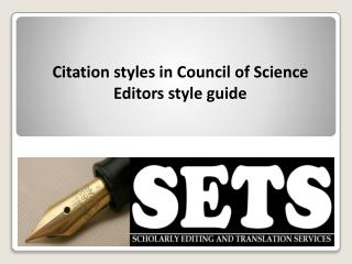 Citation styles in Council of Science Editors style guide