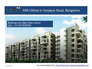 2, 3 BHK Flats at DSR Ultima in Sarjapur Road, Bangalore
