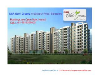 3 BHK Apartments At DSR EdenGreens in Sarjapur, Bangalore