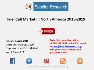 New Report on Fuel Cell Market in North America 2015-2019
