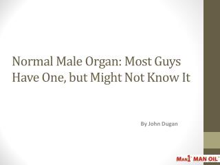 Normal Male Organ - Most Guys Have One, but Might Not Know I