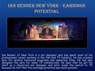 Ian Renner New York   The Set Comes To Life