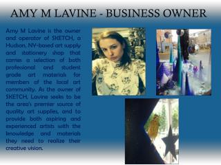 AMY M LAVINE - BUSINESS OWNER