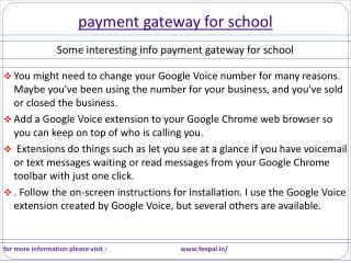 Most Effective Tips related about payment gateway for school