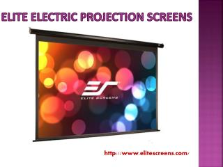 Elite Electric Projection Screens