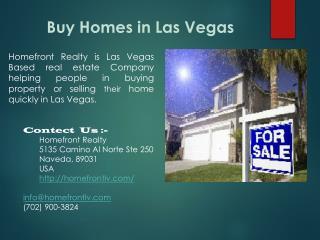 Buy homes in las vegas