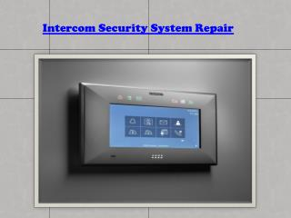 Intercom System Installer