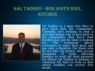 SAL TADDEO - BON JOVI'S SOUL KITCHEN