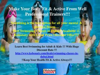 Swimming Classes in Dubai @ Special Price offer!!