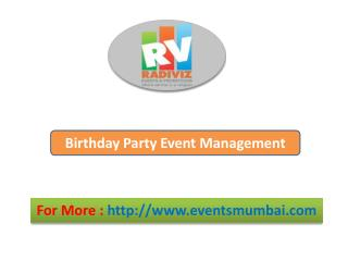 Private Event Management