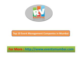 Top 10 Event Management Companies in Mumbai