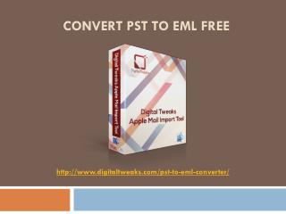 Free Outlook PST to EML Converter for Mac