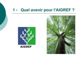 1 -   Quel avenir pour l AIGREF