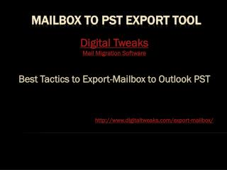 Excellent Solution is Export-Mailbox to PST free