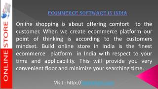 About Ecommerce Software In India