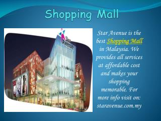 Get ready to shopping with Star Avenue