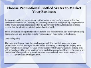 Best Branded Water