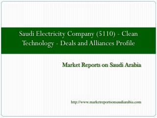 Saudi Electricity Company (5110) - Clean Technology
