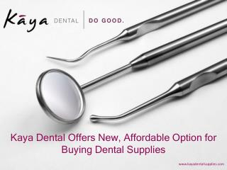 Kaya Dental Offers New, Affordable Option for Buying Dental