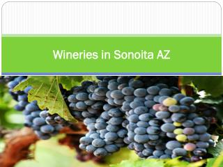 Wineries in Sonoita AZ