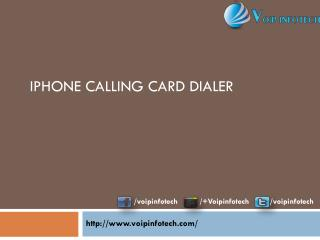 Iphone Calling Card Dialer