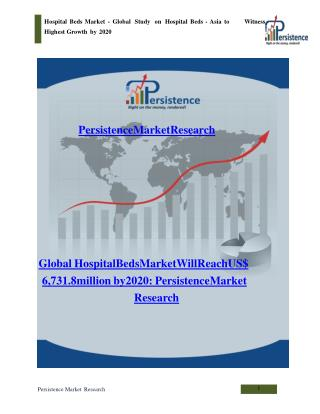 Hospital Beds Market - Global Study on Hospital Beds to 2020