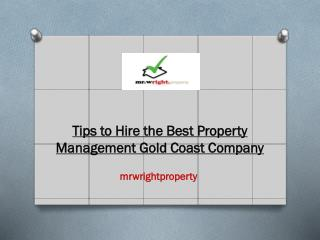 Tips to Hire the Best Property Management Gold Coast Company