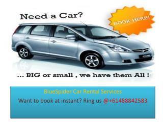 BlueSpider Car Rental Services in Sydney
