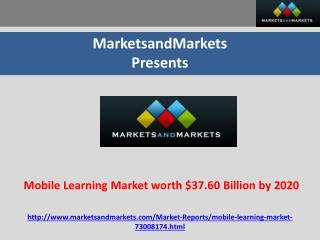 Mobile Learning Market worth $37.60 Billion by 2020
