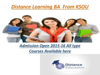 Distance Learning BA  From KSOU