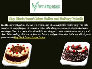 Black Forest Cakes Online With Express Delivery Services