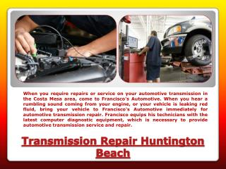 Transmission Repair Huntington Beach