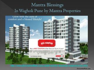 5 Lakh off on flats in Mantra Blessings | Buy Red Coupon