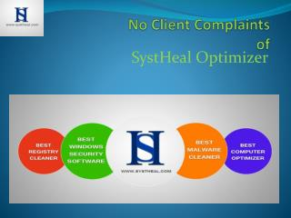 SystHeal Free Registry Cleaner has No Client Complains