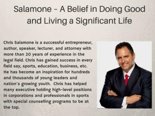 Chris Salamone, A Multifaceted Professional and Humanitarian