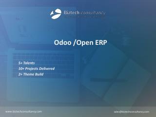 Odoo Brochure - Biztech Consultancy