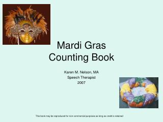 Mardi Gras  Counting Book