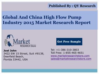 Global and China High Flow Pump Industry 2015 Market Outlook