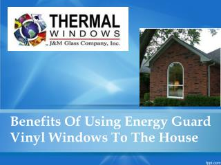 Benefits Of Using Energy Guard Vinyl Windows To The House