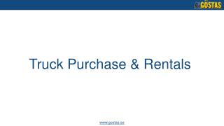 Truck purchase and rentals