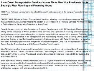 AmeriQuest Transportation Services Names Three New Vice