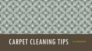 Carpet Cleaning Tips by ServiceMaster Wichita