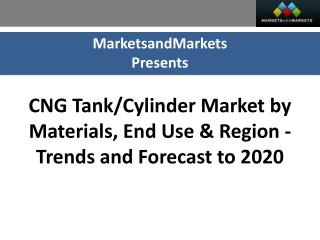 CNG Tank and Cylinder Market worth $3500 Million by 2020