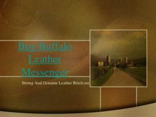 Buffalo Leather Briefcase online - High On Leather