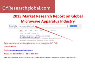 2015 Market Research Report on Global Microwave Apparatus In