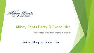 Abbey Rents Party & Event Hire