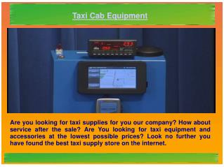 Taxi Cab Equipment